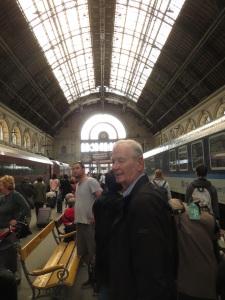 Arriving at Keleti main train terminal