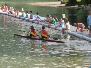 Junior canoe participants from Belgium