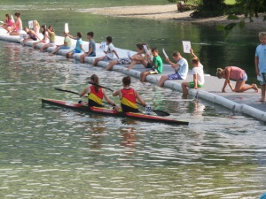 Junior canoe participants from Belgium